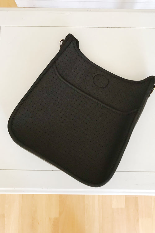 Black Neoprene Perforated Messenger