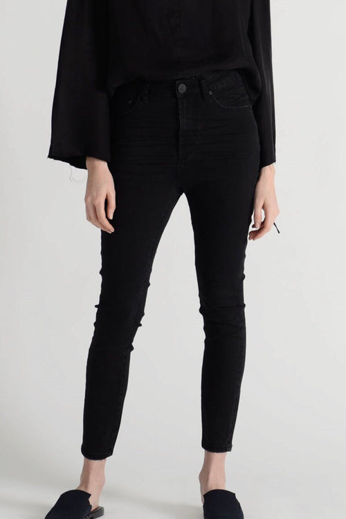 One Teaspoon Freebirds II Super High Waist Skinny Jean - Jett Black