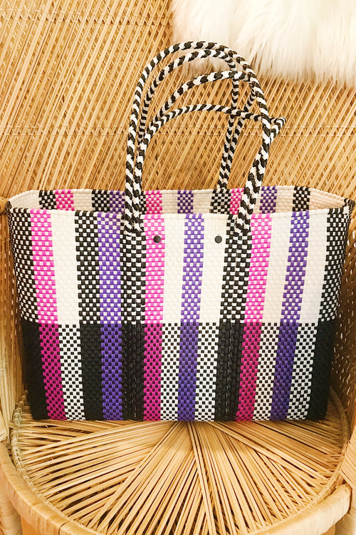 Wahako Large Tote-Purple, Pink , Black & White #18
