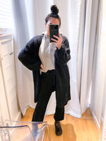 OVERSIZED KNITTED LONG CARDIGAN