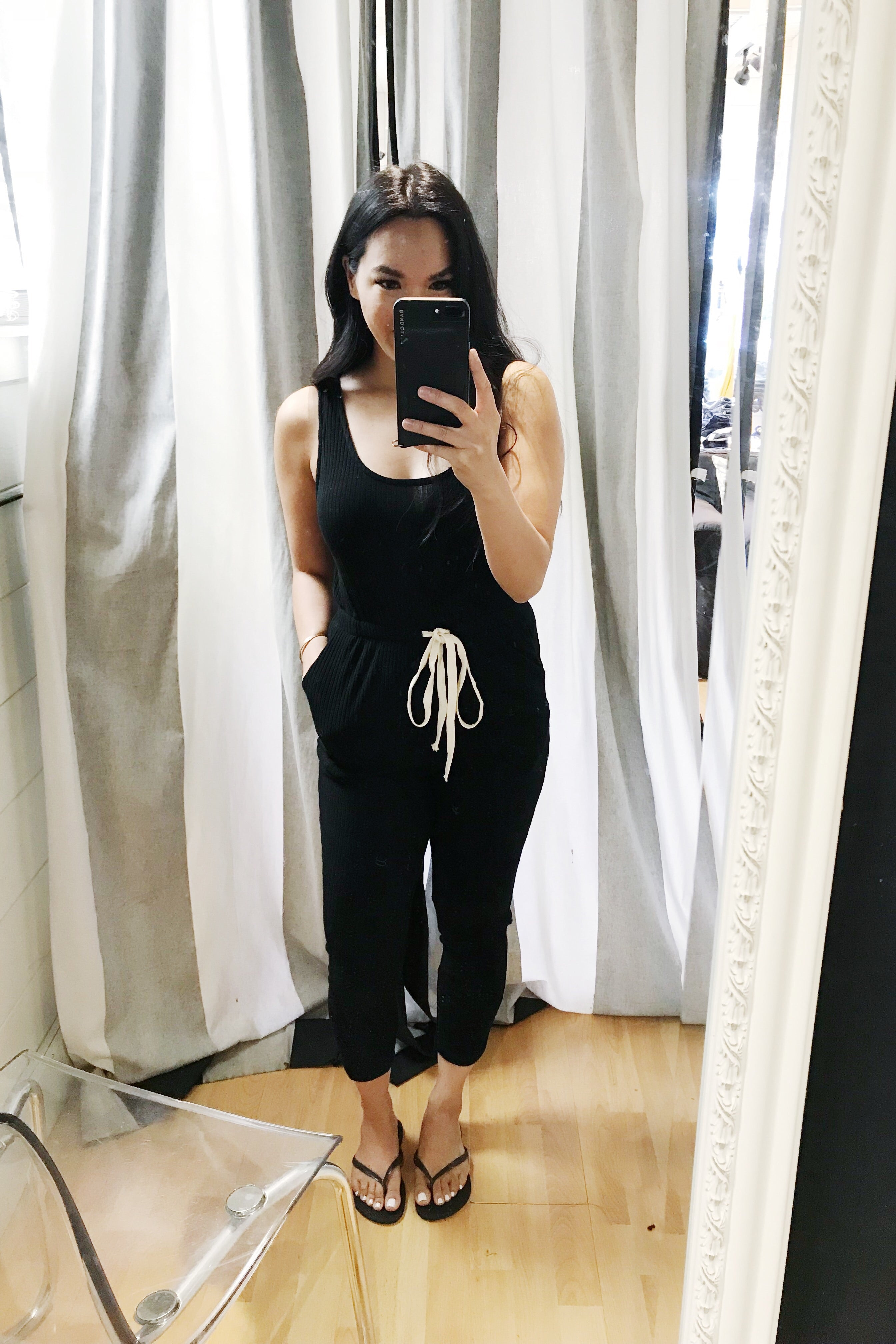 Ribbed Jumpsuit - Black