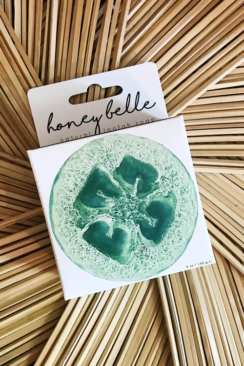 Honey Belle Loofah Soap-Eucalyptus Peppermint