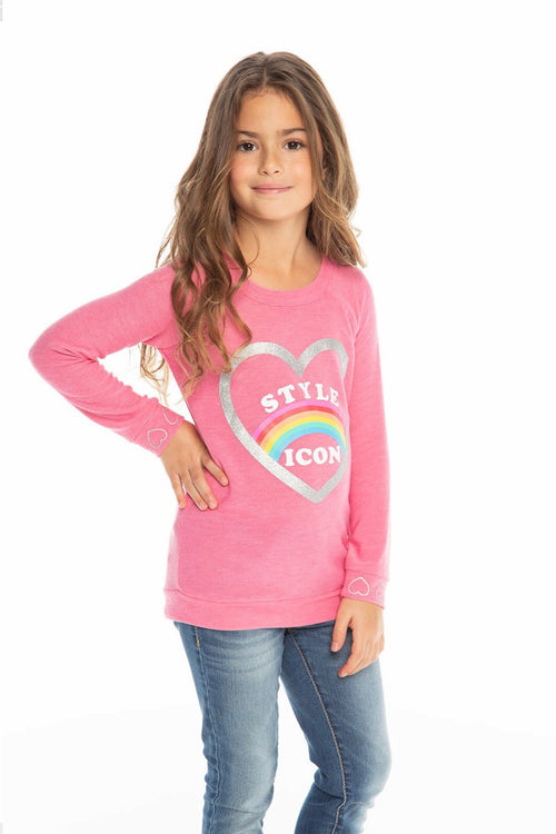 Chaser Kids Style Icon Raglan Pullover, Bliss