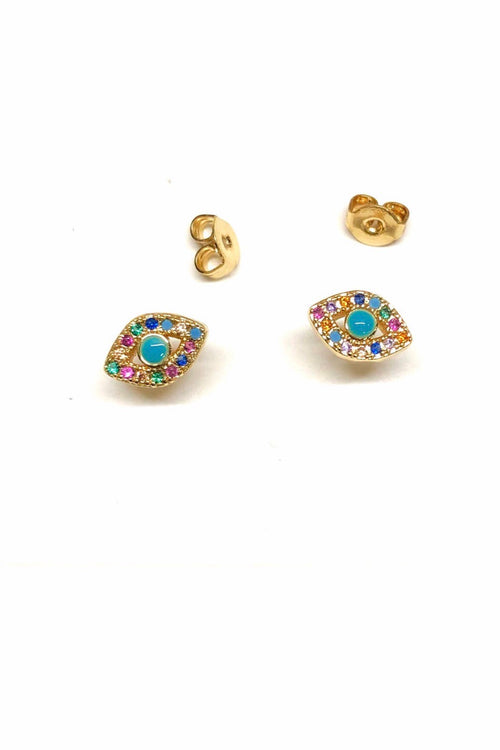Nikki Smith Rainbow Evil Eye Stud