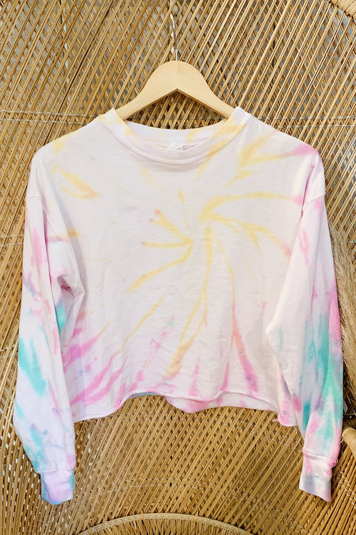 Pastel Multi-Color Tie Dye Long Sleeve Top