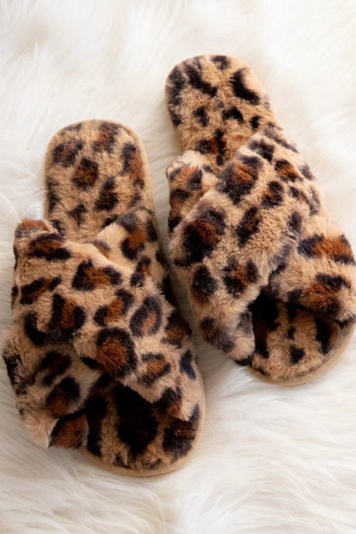 Cozy Leopard Slippers