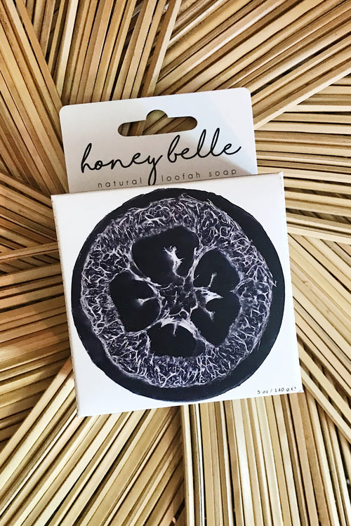 Honey Belle Loofah- Charcoal Bamboo