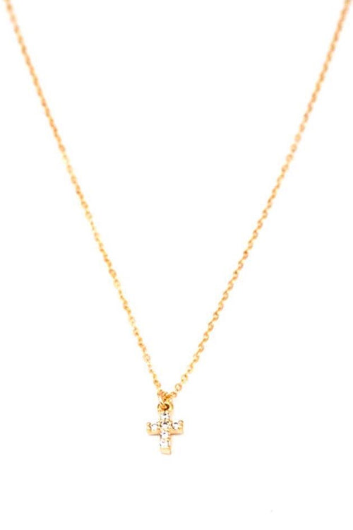 May Martin Mini CZ Cross Necklace