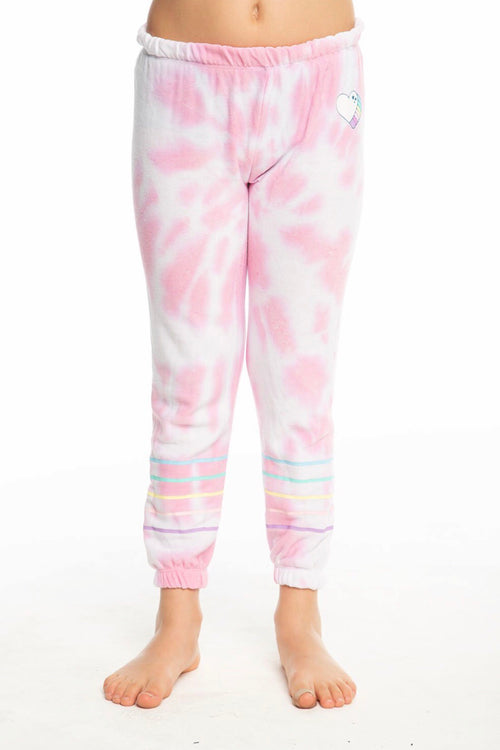 Chaser Kids Tie Dye Heart Pants