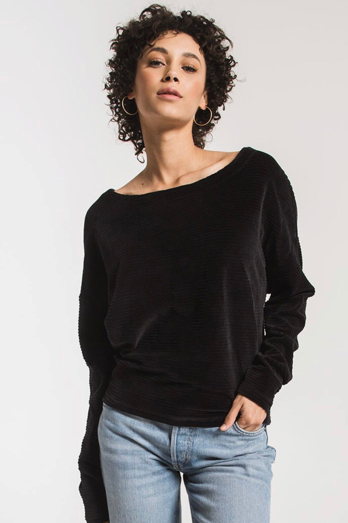 Z Supply The Wide Wale Cord Boat Neck Top