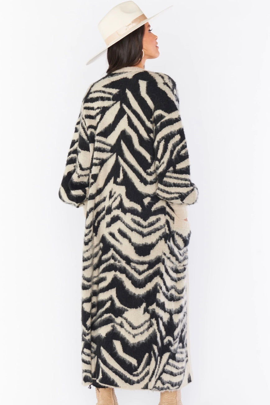 Show Me Your Mumu Out And About Cardi--Tigre Cardigan