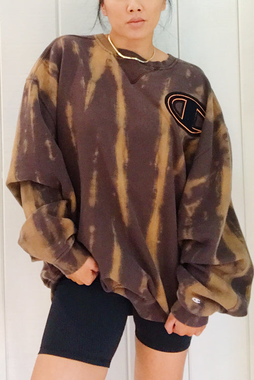 Unisex Upcycled One Of Kind Tie Dye Sweatshirt #9