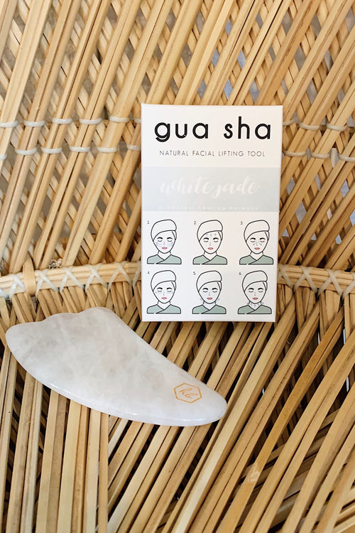 Honey Belle Gua Sha-White Jade
