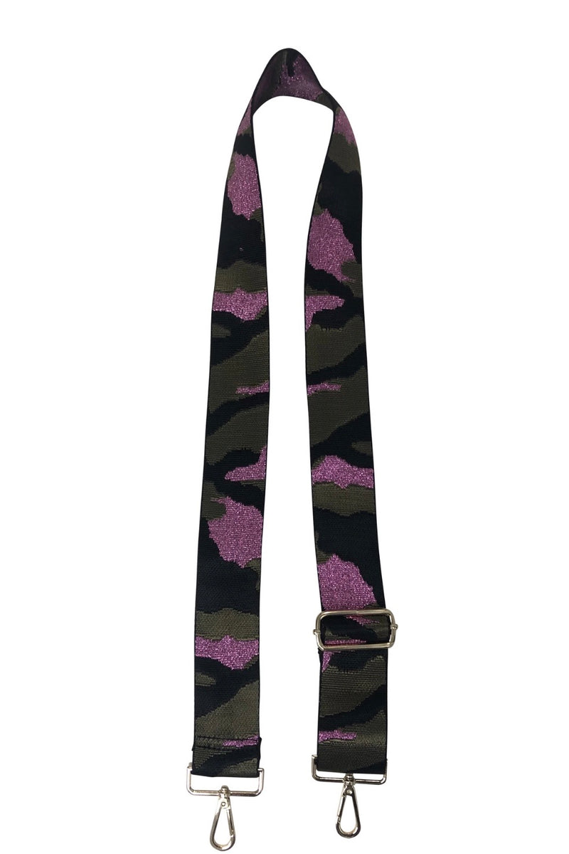 Ahdorned Pink/Purple Camo Bag Strap