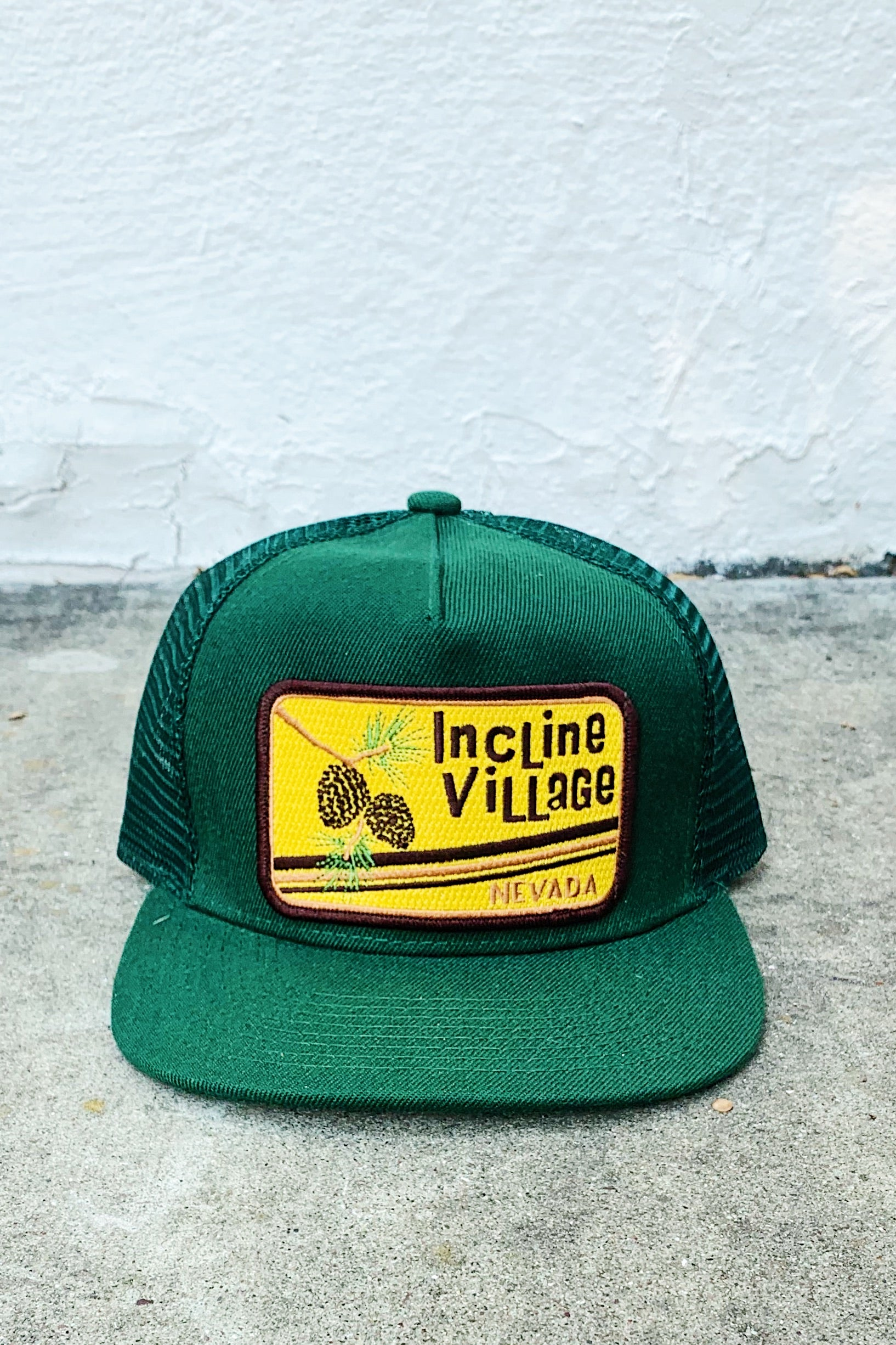 Bart Bridge Incline Village Unisex Trucker Hat-Green