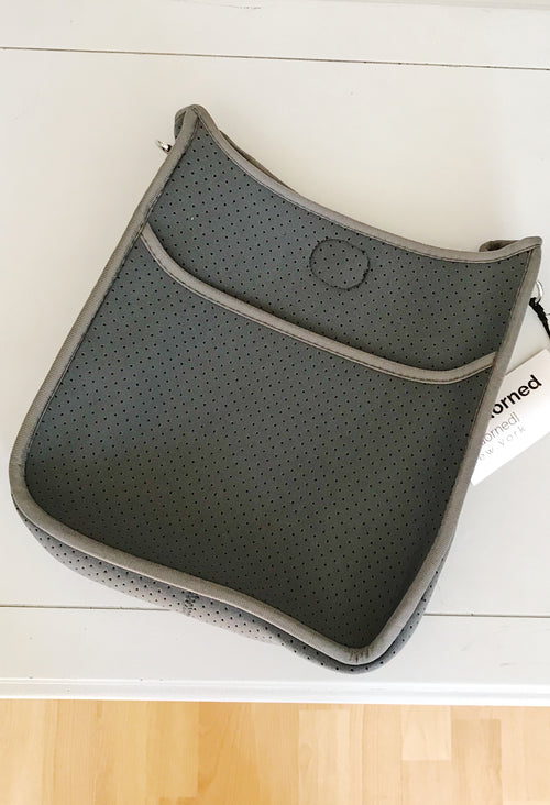 Ahdorned Grey Neoprene Perforated