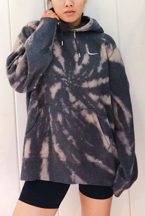 Unisex Upcycled One Of Kind Tie Dye Hoodie #18