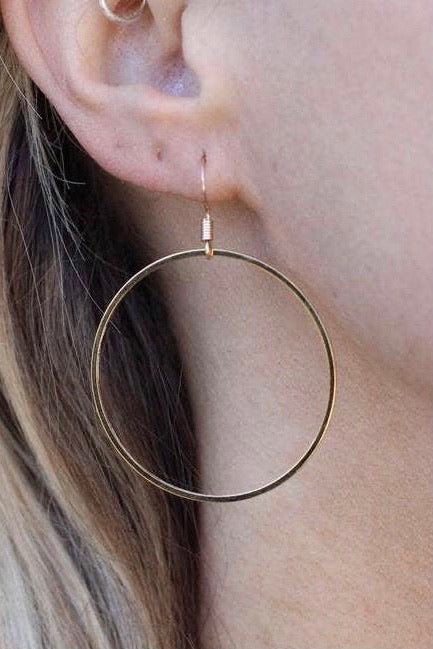 Nikki Smith Classic Modern Hoops-Gold