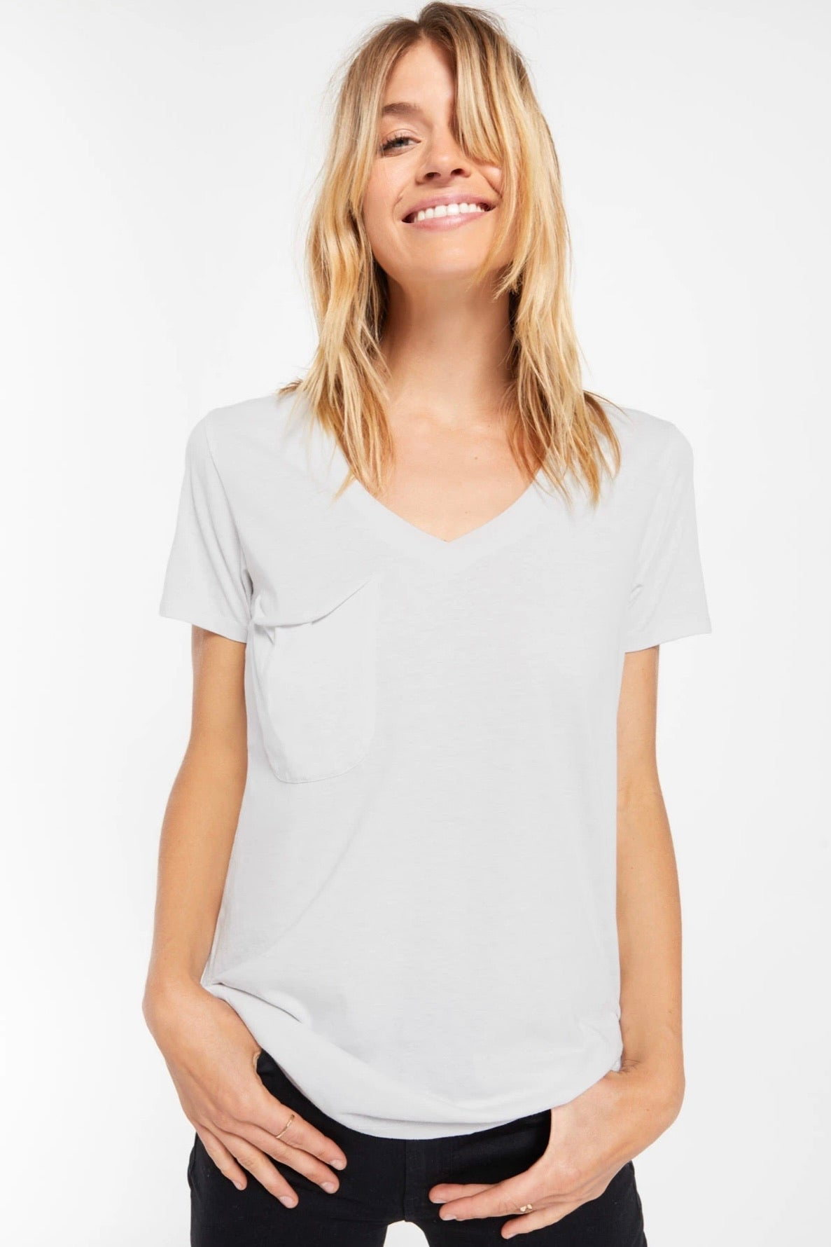 Z Supply Dove The Pocket Tee-Dove Grey