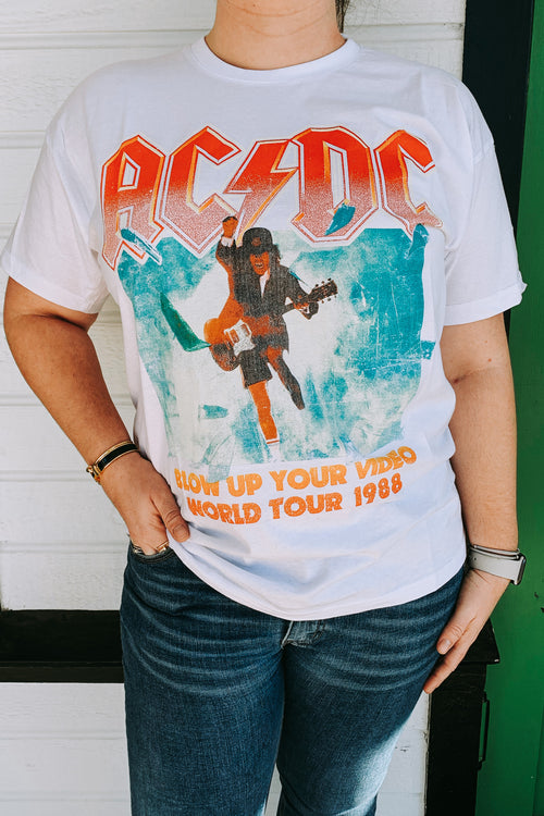 ACDC Blow Up Band Tee