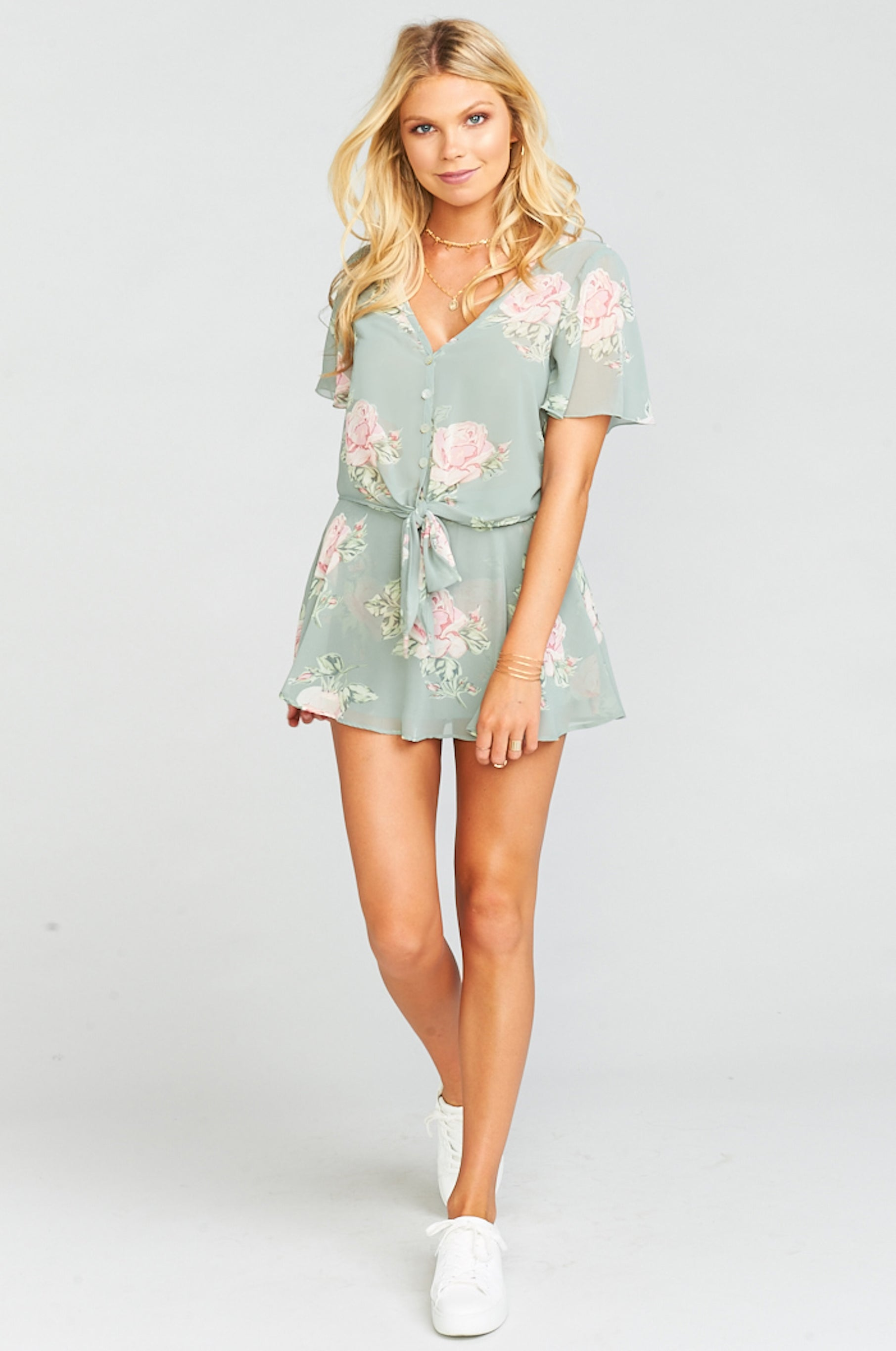 Show Me Your Mumu Tortuga Tie Top, Sweetheart Sage - Ella J Boutique