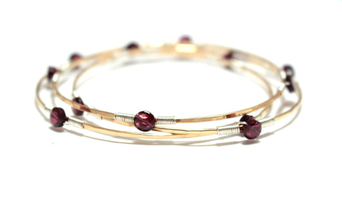 Set of 3 Gem Wrap Bangles