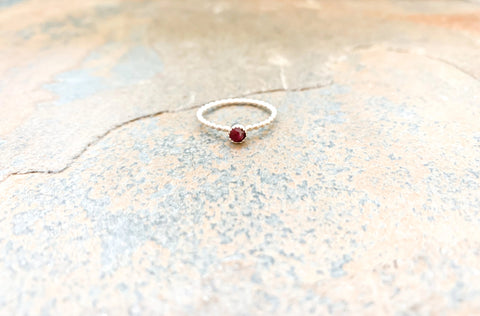 Droplet Ruby Ring
