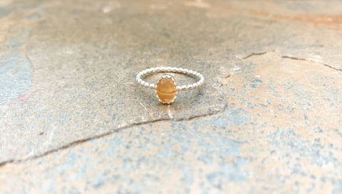 Droplet Citrine Ring