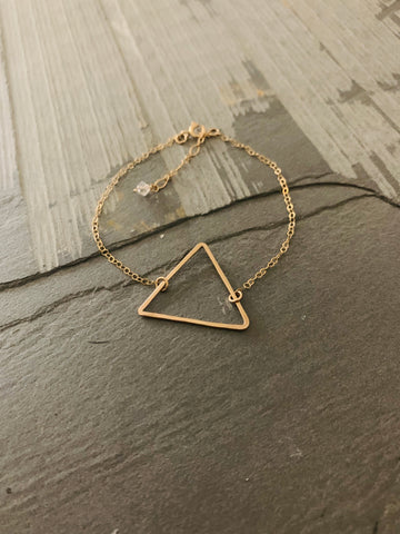 Hammered Triangle Bracelet
