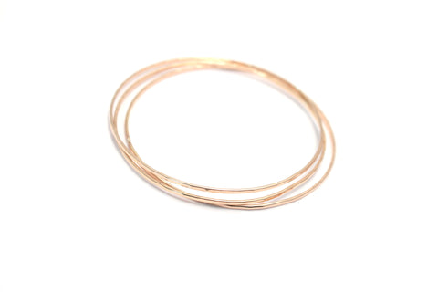 Set of 3 Faceted Hammered Bangles