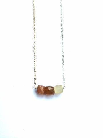 Multicolored Moonstone Necklace