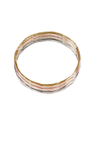 Hammered Stacking Rings- Set of 3