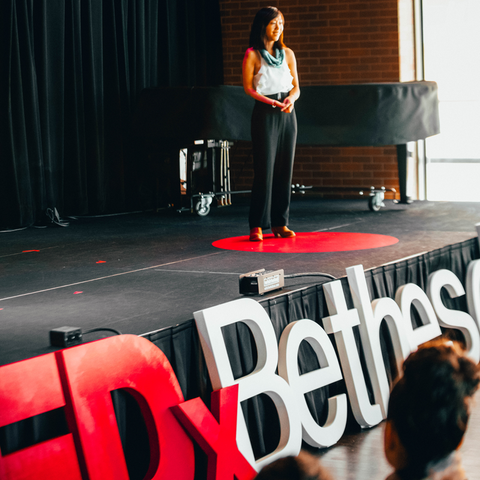 How to Look Taller: Style Tips Every Petite Woman Should Know — Giving Presentations Like a TED Talk Speaker with pro tips from petite social entrepreneur Tiffany Yu at her first TEDx Bethesda 2018 talk on the MADEIRA Petite Style Tips blog series. How to Look Taller: Style Tips Every Petite Woman Should Know — Giving Presentations Like a TED Talk Speaker with pro tips from petite social entrepreneur Tiffany Yu at her first TEDx Bethesda 2018 talk on the MADEIRA Petite Style Tips blog series. Image by Kristophers Lens @kristopherslens for @tedxbethesda at #TXB18