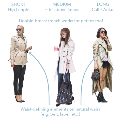 How to Look Taller: Style Tips Every Petite Women Should Know #3 — Trench Coat. MADEIRA - Petite women clothing