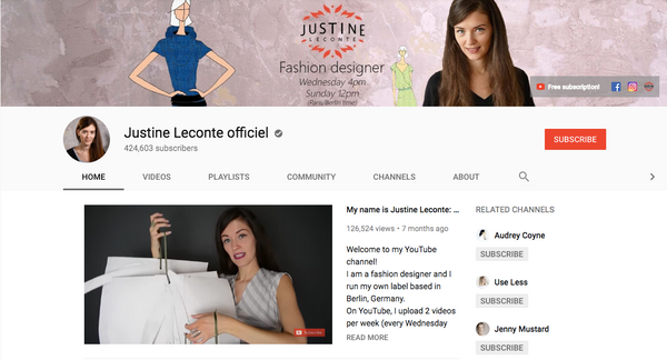 Justine LeConte YouTube Channel Sustainable and Ethical Fashion Tips by a French Designer Living In Berline_ScreenCap_madeirabrand.com Blog Petite Style Tips_FINAL
