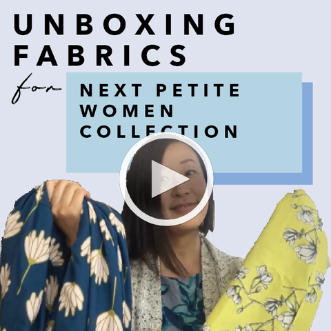 Behind The Scene: Unboxing Art Gallery Fabrics' Designer Fabrics by Dana Willard and Bari J For Our Next Petite Women Collection Designs. MADEIRA - Petite women clothing.