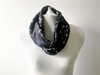 MADEIRA's Petite Friendly Velvety Soft Black Marble Prints Infinity Scarf is the perfect holiday gift digitally printed with waterbased ink on Minky fabrics in North Carolina and sewn in San Francisco, CA, USA
