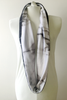 MADEIRA's Petite Friendly Velvety Soft Reversible Black and White Marble Prints Infinity Scarf is the perfect holiday gift digitally printed with water-based ink on Minky fabrics in North Carolina and scarf made in San Francisco, CA, USA
