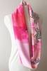 MADEIRA's Petite Friendly Velvety Soft Pink Watercolor Infinity Scarf is the perfect holiday gift digitally printed with waterbased ink on Minky fabrics in North Carolina and sewn in San Francisco, CA, USA