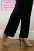 Madeline Jumpsuit Sample with Black Ruffle Top and Pleated Black Pants for Petite Women 5'4