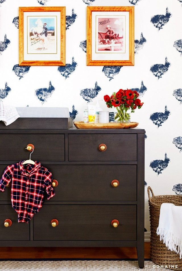 Sophisticated stylish nursery for boy