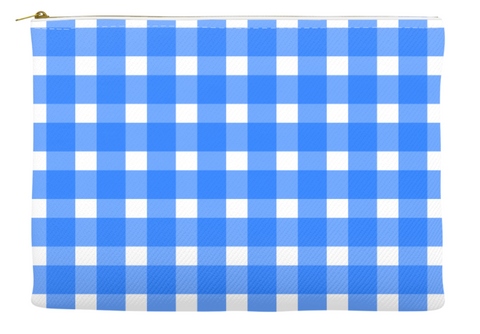 Simplify Diaper Pouch | Buffalo Check | Bright Blue