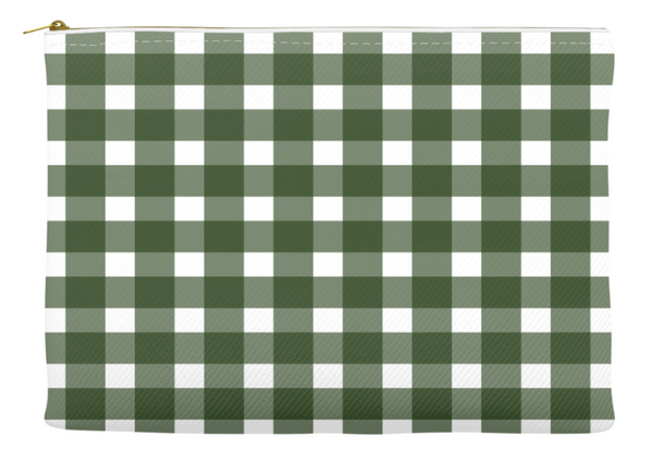Simplify Diaper Pouch | Buffalo Check | Forest Green