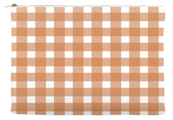 Simplify Diaper Pouch | Buffalo Check | Burnt Orange