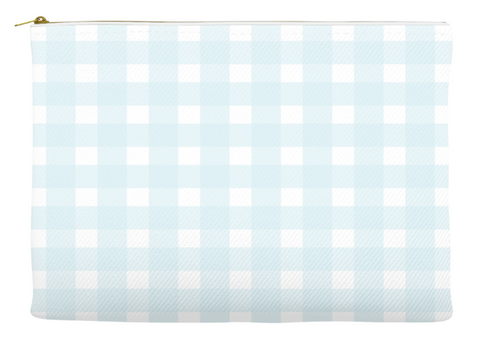 Simplify Diaper Pouch | Buffalo Check | Light Blue