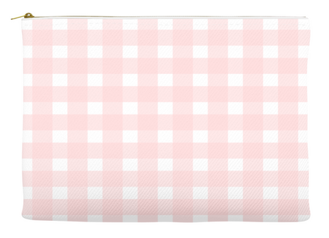 Simplify Diaper Pouch | Buffalo Check | Light Pink