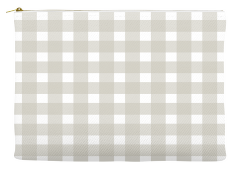 Simplify Diaper Pouch | Buffalo Check | Taupe