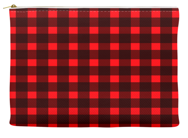 Simplify Diaper Pouch | Buffalo Check | Red & Black