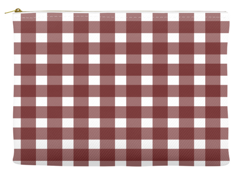 Simplify Diaper Pouch | Buffalo Check | Wine