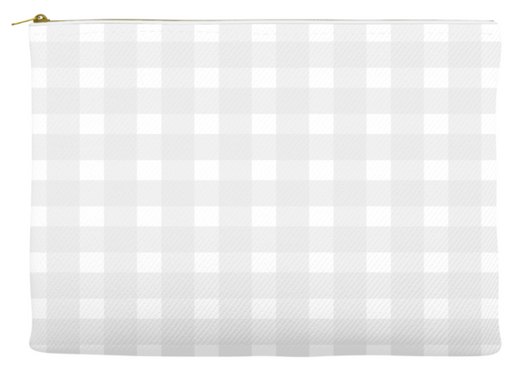 Simplify Diaper Pouch | Buffalo Check | Light Gray